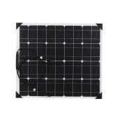 Painéis solares do silicone Monocrystalline flexível 50W 18V ETFT Superfície do favo de mel 25% High Conversion Rate Sistema do painel solar para RV Homeuse