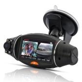Videoregistratore per veicoli con sensore di gravità per visione notturna grandangolare DVR con doppia fotocamera DVR per auto HD con GPS