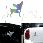 Симпатичные Наклейки Автомобиля Творческий Бульдог Водонепроницаемый Наклейки Предупреждение Бампер Автомобиля Лазерные Наклейки Украшения Окна