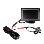 Monitor LCD TFT da 4,3 '' Monitor di sicurezza per autoveicoli Sistema di parcheggio per telecamera di parcheggio Vista posteriore e visione notturna impermeabile