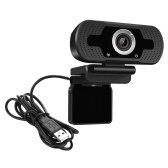 Full HD 1080P Webcam Video Conference Camera USB Webcam with Built-in Microphone for Laptop and Desktop