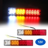 2X 12V 20 LED Stop Rear Tail Reverse Light Indicator Lamp Ute Truck Trailer Caravan