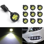 23mm Eagle Eye LED Bulb,DRL Light Ultra Thin Waterproof Black Aluminum Shell Car Motorcycle Turn Signal Light Fog Tail Backup Reverse Light,10-Pack
