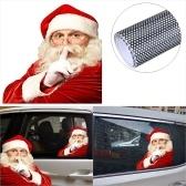 2 шт. 3D мультяшный Санта-Клаус крышка окна автомобиля авто охватывает реалистичные автомобильные наклейки Рождественский подарок (слева и справа)