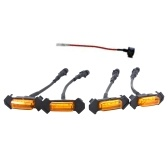 LED Grille Running Lamps, 4 PCS Front Bumper Hood Grille LED Light with Fuse Replacement for Toyota Tacoma 2016-2019, (Amber Shell with Amber Light)