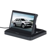 5 Inch Car Auto Monitor LCD Screen 12V Foldable On-Dash Backup Monitor Digital Screen Display with 2 Video Input Port for Backup Camera/Rear View/DVD/Media Player