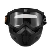 Маска для морщин Съемные очки и фильтр для рта для открытого шлема для лица Мотокросс Лыжный сноуборд