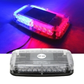 12v Dach samochodu Led Strobe Lights Bar Police Emergency Warning Warning Fireman Flash Led Police Lights czerwone i niebieskie