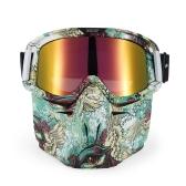 Bike Motorcycle Face Mask Goggles Motocross Motocicleta Motor Open Face Capacete Destacável Goggle Vintage Glasses Universal