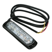 Światła awaryjne samochodu 6 LED Wodoodporne światła ostrzegawcze awaryjne Lampa błyskowa Strobe Light Bar Samochód SUV Pickup Truck Van White Yellow Light