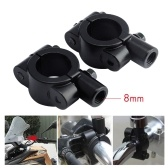 8mm Handlebar Mirror Mount Adapters Holders Clamp On Dirt Bike Dual Sport