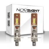 NOVSIGHT H1 60W 1800lm Reflektory samochodowe Led Światła przeciwmgielne miedziane przewodzenie ciepła 6000K Białe żarówki przeciwmgielne