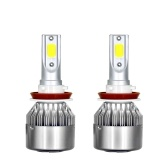 2 Pcs Voiture LED Ampoules de Phare LED Conduite Lampe All-in-one Conversion Kit H11 36 W 6000LM