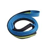 Câble de corde de treuil synthétique de 5cm * 3.0m 2''x10 '17637lbs avec le crochet en forme de U, bleu