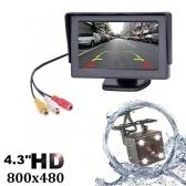 4.3インチTFT LCD車のバックビューバックアップモニターカメラキット