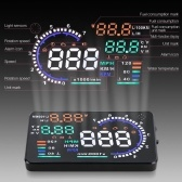 A8 5.5in Car HUD Headup Display with OBD 2 Interface Plug