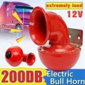 Loud 200DB 12V Red Electric Bull Horn Air Horn