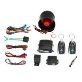 Universal Car Vehicle Security System Burglar Alarm Protection Anti-theft System 2 Remote