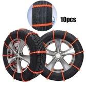 10Pcs Cinturino in nylon anti-scivolo per auto, ruota per pneumatici, catena per pneumatici