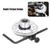 "Angle Torque Gauge 360° Adjustable 1/2"" Drive Torque Angle Gauge Auto Meter Tool Professional Measurer Tool with Wrench"