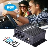 400W DC12V BT Amplifier HiFi Car Stereo Music Receiver FM MP3 Power-Amplifier