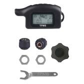 Moto TPMS Monitor de presión de neumáticos Presión externa Sensores impermeables Sistema de monitor de presión de neumáticos LCD Moto Tools