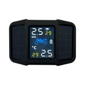 Sistema di monitoraggio della pressione dei pneumatici TPMS Energia solare con 2 sensori esterni Temperatura della pressione di visualizzazione in tempo reale