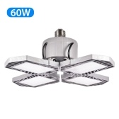 LED Garage Light Foldable Deformable Garage Ceiling Lamp with 4 Adjustable Panels 60W 6000LM  for Warehouse Bar Basement