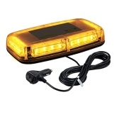 Car Roof Light 12V Waterproof Strobe Warning Light 24LEDs with Double Switch and Cigarette Lighter Cable