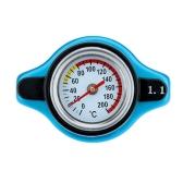 Termostatyczny Radiator Cap zalać wodą Temp Temperatura Gauge 0,9 / 1,1 / 1.3BAR Niebieski