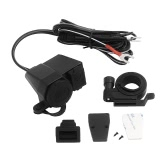 12V-24V Moto 2.1A Chargeur d'alimentation imperméable USB (ne peut pas utiliser de briquet)