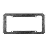 "2pc Carbon Fiber Car License Plate Frames for 6"" x 12"" US Canada Car License Plate"