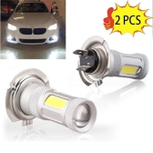 2 Pcs High Power COB LED Fog Light H4 Car Driving Lamp 80W