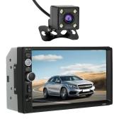 Multimedialny radioodtwarzacz samochodowy z odtwarzaczem MP5 o przekątnej 7 cali i odtwarzaczem HD Din z kontrolerem kierownicy i kamerą cofania