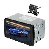 Universal 7 Polegada 1024 * 600 HD touch GPS Do Carro 2Din Rádio Car Stereo Player Android 5.1 1 GB de RAM + 16 GB ROM com Câmera Retrovisor