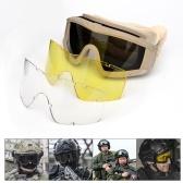 Militaire Airsoft tactique lunettes de tir lunettes de moto lunettes de Wargame coupe-vent