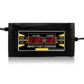 Pełna automatyczna ładowarka samochodowa 110 V / 220 V do 12 V 6A 10ASmart Szybkie ładowanie do mokrego suchego kwasu ołowiowego Wyświetlacz cyfrowy LCD UE wtyczka