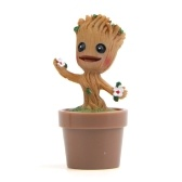 Cute Tree Man Groot Doll Guardians из Galaxy Doll Car / Домашнее украшение с горшком