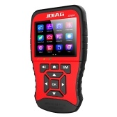 JDiag Multi-function Large Screen Code Reader JD906 Enhanced Mode OBDII Scanner  for Smog Check with Core Analysis