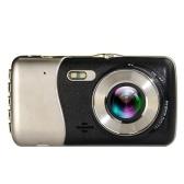 4,0-дюймовый ЖК-экран 170 градусов с двумя объективами 1080P Камера Автомобильный рекордер G-сенсор высокого разрешения