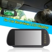 7in Car LCD Display Rear View Mirror High Definition Video Reversing Display Screen