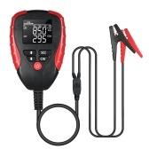 Testeur numérique de batterie de voiture 12V avec testeur et analyseur de charge de batterie automobile en mode AH / CCA pour le pourcentage de durée de vie de la batterie, la tension, la résistance et la valeur CCA