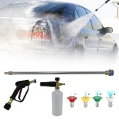 Quick Release Sprayer Lanzenstab + Schneeschaumlanze + 5 Düsen Kompatibel mit Karcher K2 K3 K4 Einlass