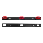 "14 ""Red 3Lamp ID LED Light Bar Suporte de porta traseira para Dodge RAM 1500 2500 3500 Sealed ID Light Bar Liquidação"