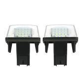 2PCS AUCUNE lumière de plaque d'immatriculation de numéro d'erreur LED pour Peugeot 206/207/307/308 pour Citroen C3 / C4 / C5