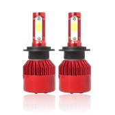 Super Bright LED Headlight Car Head Light Conversion Lamp Kit 40W 6500K Auto COB Chip Light Bulb Red H1/ H4/ H7/ H11