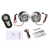 Motocicleta Mutilmedia MP3 Player Speakers Audio FM Radio Alarma de seguridad Wireless BT Remote con ranura para tarjeta USB TF