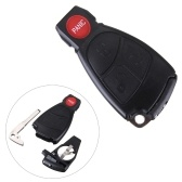 Ersatz-Fernbedienung Keyless Key Fob Fall Shell Cover Blade für Mercedes Benzs 3 Button + Panic