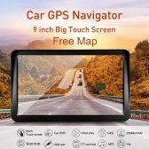 """9 """"HD сенсорный экран Портативный GPS-навигатор Планшетный GPS-навигатор 8 ГБ 256 МБ Автомобильный стерео-аудиоплеер Мультимедийная развлекательная система с поддержкой на задней панели + бесплатная карта"""