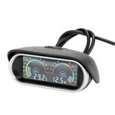 2 in 1 Universal 12V/24V LCD Liquid Crystal Car Digital Horizontal Gauge Oil Fuel Voltage Gauges Meter Voltmeter